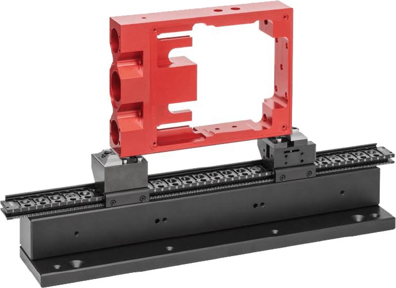 Ausweitung der Schraubstock-Spannweite durch getrennte Backenaufnahme